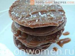 Buñuelos de chocolate en leche