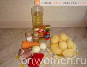 Porco assado com batatas