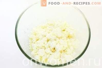 Pasteles de queso de harina de maíz