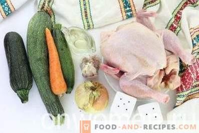 Esmagar com frango em um fogão lento