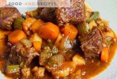 Lam gestoofd met groenten in een slow cooker