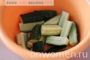 Исечени краставици со инстант сенф