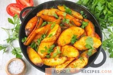 A que temperatura as batatas devem ser cozidas