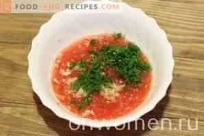 Pikantna sałatka z bakłażanów