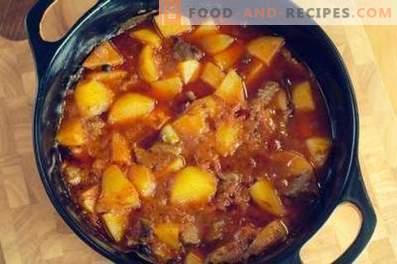 Rundvlees gestoofd met aardappelen