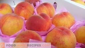 Perziken laten invriezen