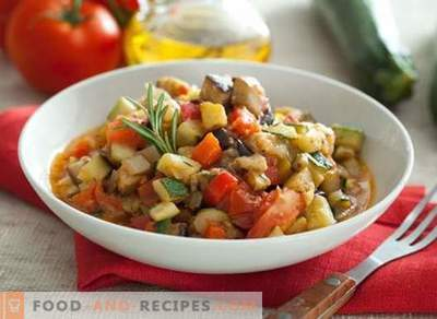 Berinjela ensopado de legumes - as melhores receitas. Como cozinhar corretamente e saboroso guisado com berinjela.